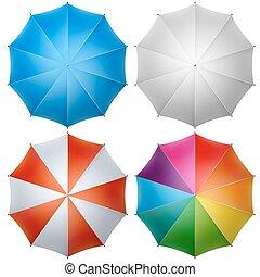 sommet, parapluie, coloré