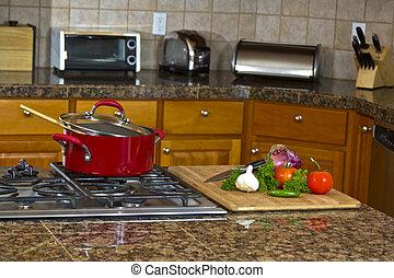 sommet poêle, cuisine