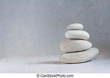 sommet, rochers, empilé, autre, une