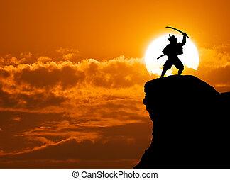 sommet, samouraï
