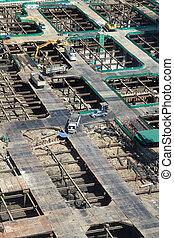 sommet, site construction, vue