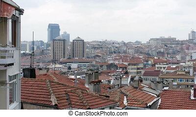 "sommet, toit, istanbul, turkey"", ""ugly, vue"