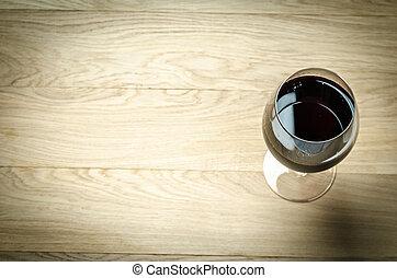 sommet, vin, verre., rouges, vue