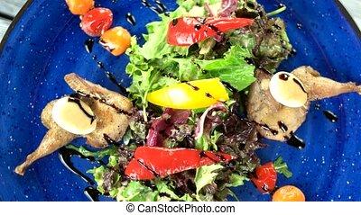 sommet, vue., salade