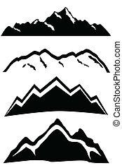 sommets montagne, paysage