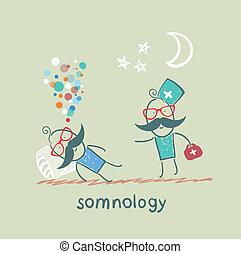 somnology, έρχομαι , ασθενής , μαξιλάρι , κοιμάται
