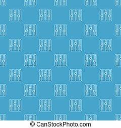 son, bleu, modèle, seamless, mélangeur, vecteur
