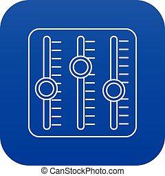 son, bleu, vecteur, mélangeur, icône