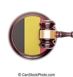 son, boîte, juge, voiture bois, sur, -, clés, marteau, vue dessus
