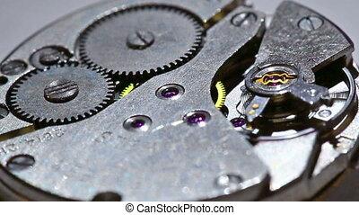 son, chronomètre, vieux, mécanisme, tick-tick