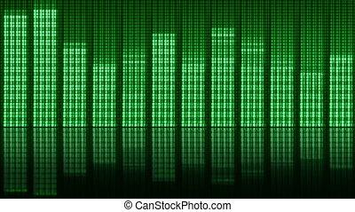 son, compensateur, écran, enregistrement, reproduction, appareil