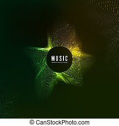 son, compensateur, effect., vibrant, concept., courbe, illustration, vague, arrière-plan., vecteur, conception, musique numérique, audio, pattern., couleur