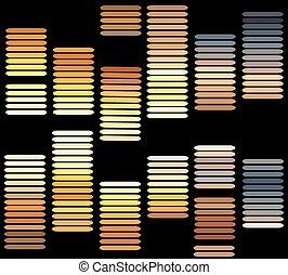 son, couleurs, vague