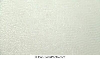 son, eau, lent, causé, surface, mouvement, arrière-plan., ondulé, vibrations., blanc