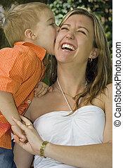 son kissing mum