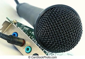 son, microphone, carte ordinateur