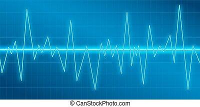 son, modulation., amplitude, equalizer., osciller, résumé, néon, spectre, illustration, vecteur, musique, lumière, fond, vagues, lueur, technologie, analyzer.