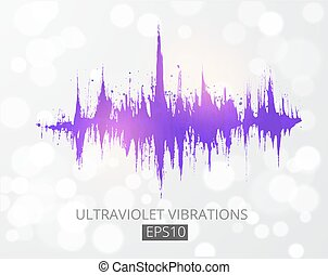 son, modulation., pourpre, wave., analyseur, spectre, couleur, ultra-violet, 2018, amplitude, année, musique, compensateur