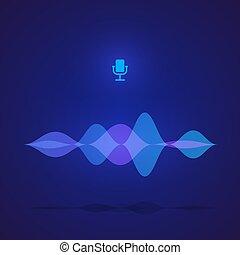 son, pulse., frequency., application., illustration, vote, vecteur, conception, numérique, interface, musique, exposer