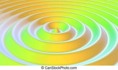 son, seamless, vague, capable, boucle, couleur, cercle, ondulation, branché