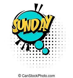 son, semaine, art, pop, dimanche, effets, fin, comique
