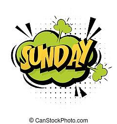 son, semaine, art, pop, dimanche, vert, effets, fin, comique