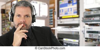 son, studio télévision, ingénieur