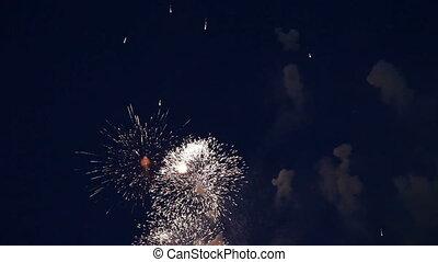 son, vacances, feux artifice