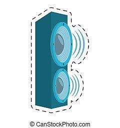 son, volume, audio, orateur