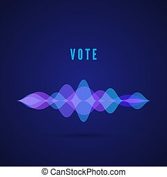 son, vote, pulse., frequency., illustration, app., vecteur, conception, numérique, interface, musique, exposer