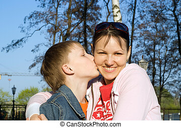 son with mom