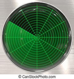 sonar, radar, ekran, albo