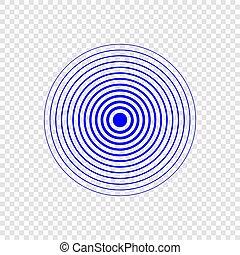 Sonar search sound wave icon