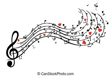 song heart - musical notes