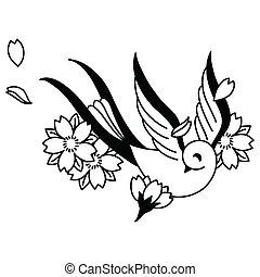 songbird , και , κερασέα άνθος