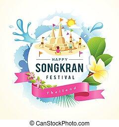 Songkran Festival summer of Thailand