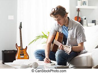 songwriter, compondo, canção