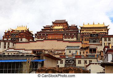 Songzanlin Monastery in Zhongdian (Shangri-La), Yunnan,...