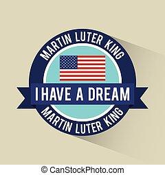 sonho, americano, bandeira, bandeira, ter