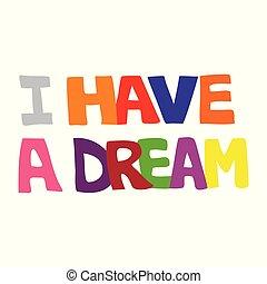 sonho, desenho, tipografia, ter