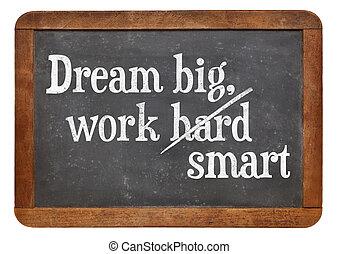 sonho, grande, trabalho, esperto