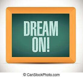 sonho, sinal, ilustração, mensagem