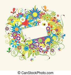 sonhos, cartão, saudação, verão