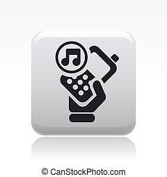 sonido, aislado, ilustración, teléfono, solo, vector, icono