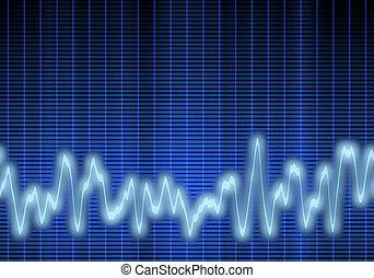 sonido, audio, o, onda