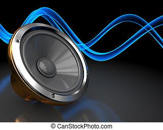 sonido, plano de fondo