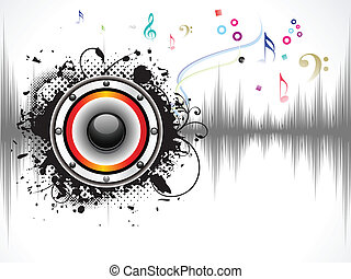 sonido, resumen, musical, plano de fondo