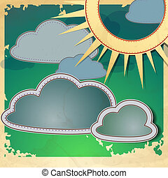 sonne, clouds.