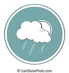 sonne, drops.eps, wolkenhimmel, regen