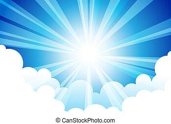 sonne, himmel-wolke